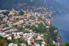 阿马飞美丽的海岸意大利 免版税库存照片