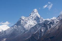 阿马Dablam山峰,珠穆琅玛地区 免版税库存照片