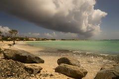 阿鲁巴海岸 免版税库存图片