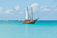 阿鲁巴美丽的热带海岛  库存图片