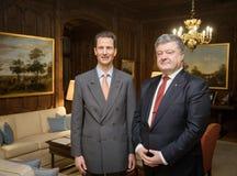 阿洛伊斯、列支敦士登的遗传性王子和Petro Po总统 免版税库存照片