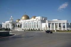阿什伽巴特,土库曼斯坦-大约2014年10月:对Th的全视图 免版税图库摄影
