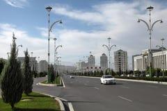 阿什伽巴特,土库曼斯坦- 2015年10月20日:一部分的体育co 免版税库存照片
