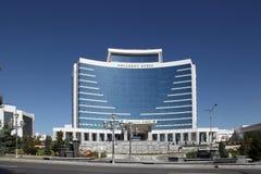 阿什伽巴特,土库曼斯坦- 2014年10月15日:现代建筑学o 免版税库存图片