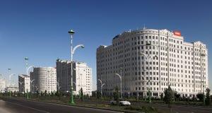阿什伽巴特,土库曼斯坦- 2014年10月15日:现代建筑学o 库存图片