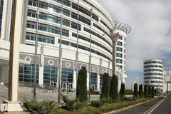 阿什伽巴特,土库曼斯坦- 2015年10月20日 一部分的体育co 免版税库存图片