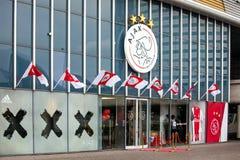 阿贾克斯fotball阿姆斯特丹竞技场的,荷兰俱乐部商店 免版税图库摄影