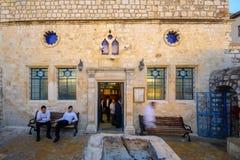 阿什凯纳兹HaAri犹太教堂,在犹太处所,采法特( Tzf 免版税库存图片