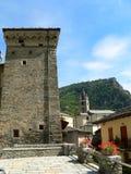 阿维塞,瓦尔d奥斯塔(意大利) 免版税库存图片