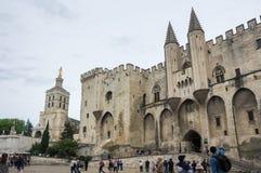 阿维尼翁教皇宫殿 免版税图库摄影