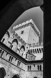阿维尼翁-观看在Palace,普罗旺斯,法国教皇 免版税库存图片