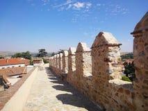 阿维拉中世纪墙壁,西班牙 库存照片