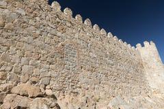 阿维拉卡斯蒂利亚y利昂,西班牙:墙壁 库存照片