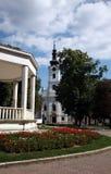阿维拉圣特里萨大教堂在别洛瓦尔,克罗地亚 免版税库存照片
