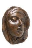 阿维拉圣特里萨的木面孔  免版税库存照片