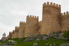 阿维拉墙壁,西班牙 图库摄影