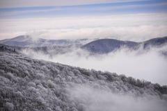 阿巴拉契亚山脉在冬天 库存图片