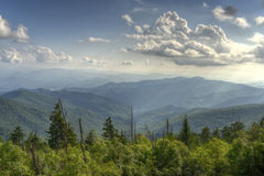 阿巴拉契亚山脉在大烟山国家公园为 图库摄影