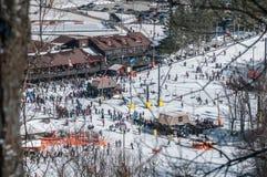 阿巴拉契亚山脉滑雪胜地 免版税库存图片