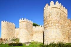 阿维拉市墙壁 库存图片