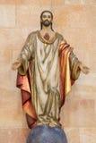 阿维拉,西班牙, 2016年4月- 19日:耶稣基督的心脏雕象教会大教堂的de钦琼特佩克火山 免版税库存照片