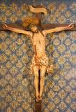 阿维拉,西班牙:在十字架上钉死在真正的monasterio de从16的Santo Tomas教会里  分 在教堂卡皮亚del克里斯多de la Agonia 免版税库存图片
