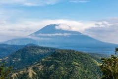 阿贡火山,巴厘岛,印度尼西亚 免版税图库摄影