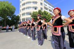 阿什莉国籍女学生仪仗队 免版税图库摄影