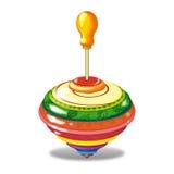 陀螺一套儿童的玩具 免版税图库摄影