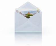 附件邮件照片 免版税库存图片