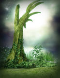 附加的eps10幻想文件树 库存图片
