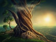 附加的eps10幻想文件树 免版税库存图片