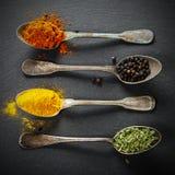 附加芳香烹调要素食物草本成份自然选择香料 免版税图库摄影