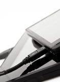 附属的电池设备移动电话 免版税图库摄影