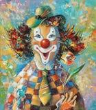 附庸风雅 有花的小丑 作者:尼可拉Sivenkov 皇族释放例证