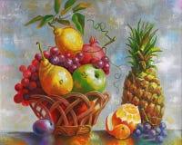 附庸风雅 静物画用菠萝 作者:尼可拉Sivenkov 库存例证