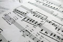 附注独奏歌曲 免版税库存照片