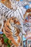 黏附被充塞的老虎在慕尼黑啤酒节,斯图加特 免版税图库摄影