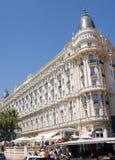 洲际的卡尔顿戛纳是豪华旅馆 库存图片