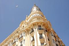 洲际的卡尔顿戛纳豪华旅馆 免版税库存图片