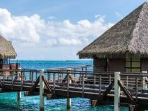 洲际的手段和温泉旅馆在帕皮提,塔希提岛,法属玻里尼西亚 库存图片