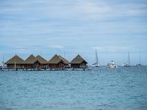 洲际的手段和温泉旅馆在帕皮提,塔希提岛,法属玻里尼西亚 免版税库存照片