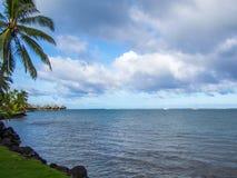 洲际的手段和温泉旅馆在帕皮提,塔希提岛,法属玻里尼西亚 库存照片