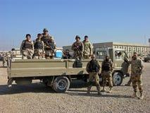 陆军伊拉克人战士 免版税库存照片