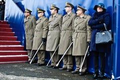 陆军典雅的意大利语任命妇女军官 免版税库存图片
