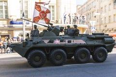 陆军前进的游行俄语战士 库存照片