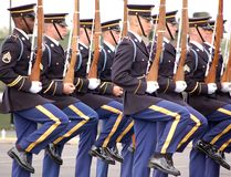 陆军卫兵团结的荣誉称号状态 库存图片