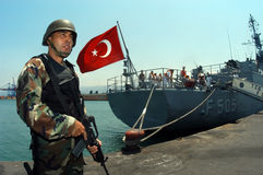 陆军土耳其 库存照片