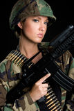 陆军妇女 免版税库存图片