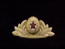 陆军帽徽官员苏维埃 免版税库存照片